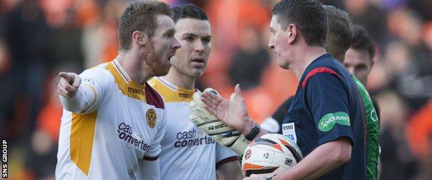 Motherwell were convinced they had scored a first-half goal