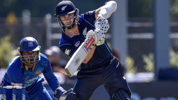 Kane Williamson during his 97 against Sri Lanka in Dunedin
