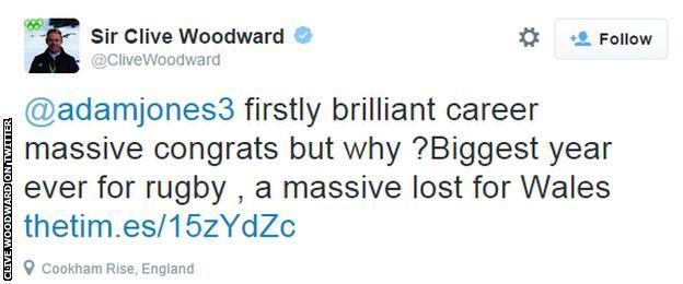 Sir Clive Woodward tweet