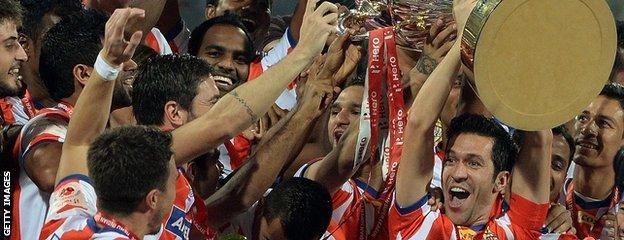 Atletico de Kolkata win the inaugural Indian Super League