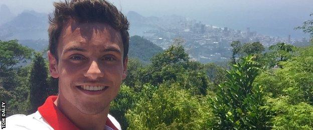 Tom Daley selfie in Rio
