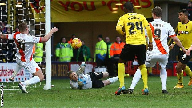 Blackpool concede at Watford