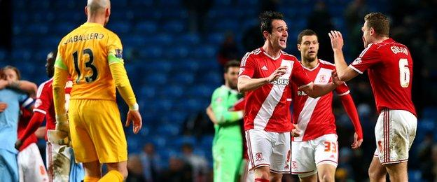 Kike scored for Middlesbrough against Manchester City
