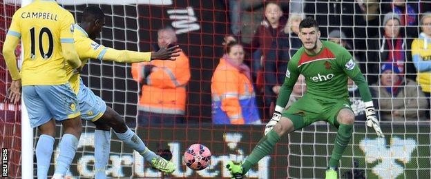 Yaya Sanogo scores for Crystal Palace
