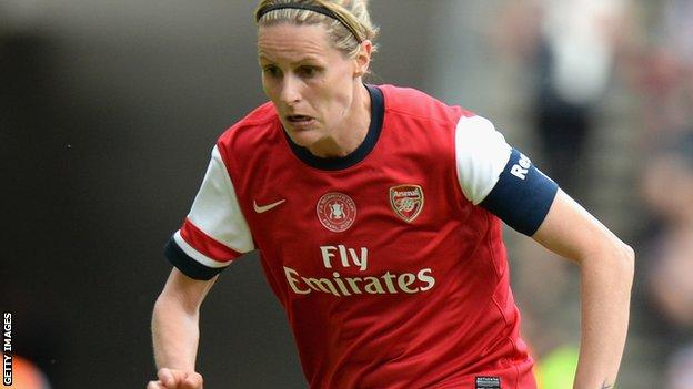 Arsenal and England striker Kelly Smith