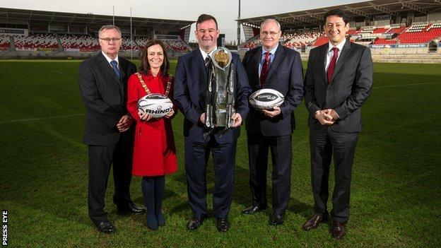The news that Ravenhill is to host the Pro12 Grand Final in May was announced in Belfast on Monday