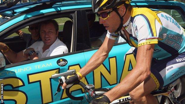 Lance Armstrong at Astana