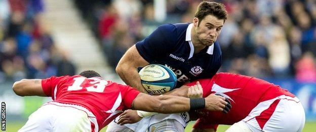 Johnnie Beattie against Tonga
