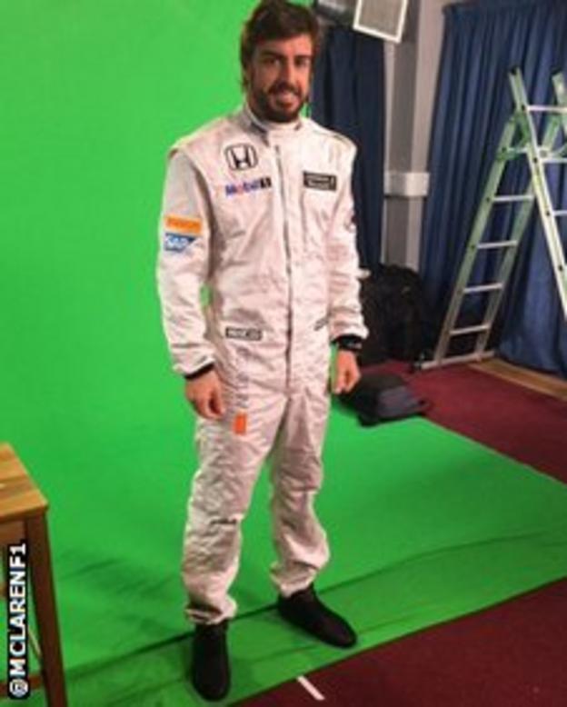Fernando Alonso in McLaren race suit