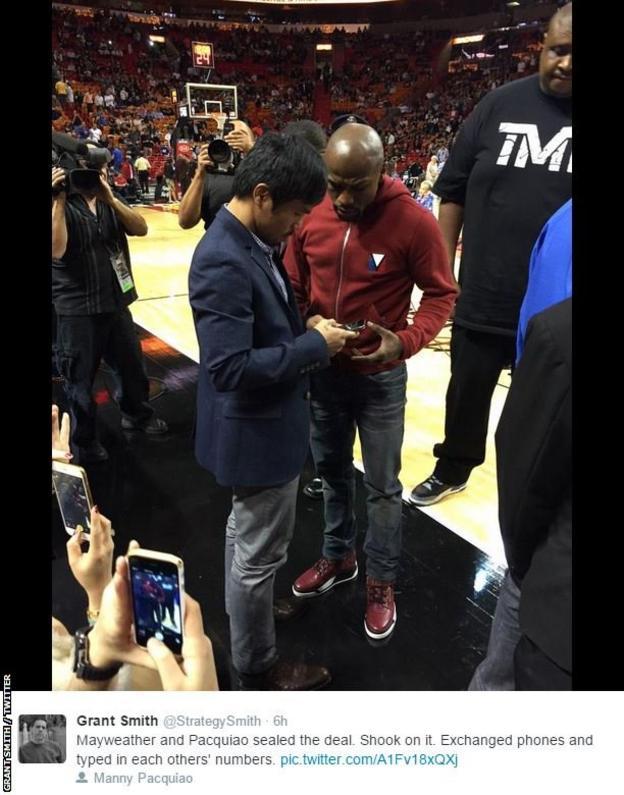 Manny Pacquiao & Floyd Mayweather