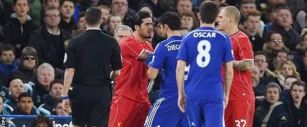 Emre Can and Diego Costa