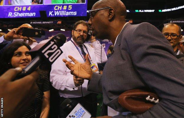 US comedian JB Smoove at Super Bowl Media Day