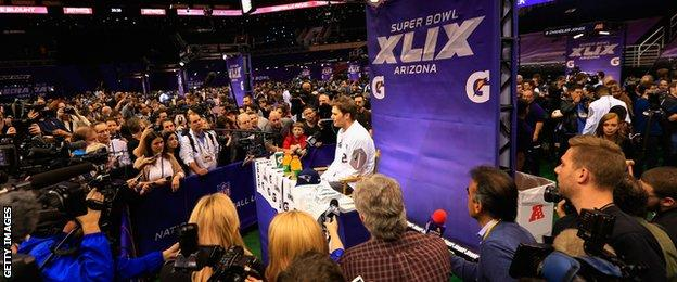 Tom Brady fields questions from the press on Media Day