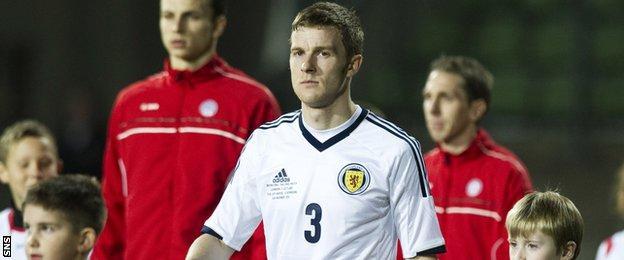 Scotland defender Paul Dixon