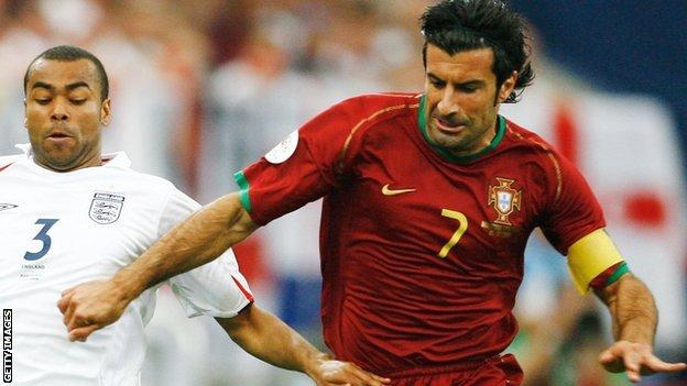 Figo played 127 times for Portugal