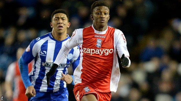 Demarai Gray in action against Sheffield Wednesday