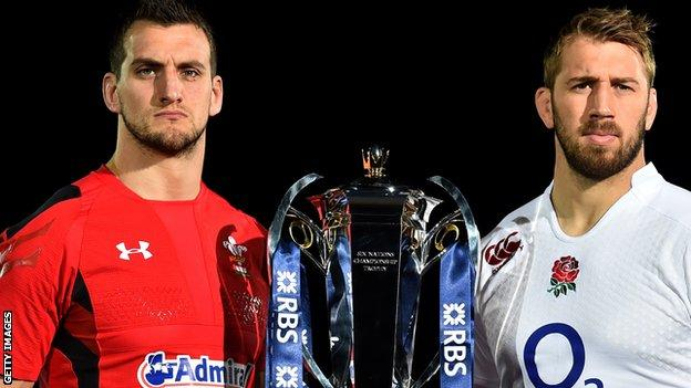 Wales captain Sam Warburton (L) and England captain Chris Robshaw (R)