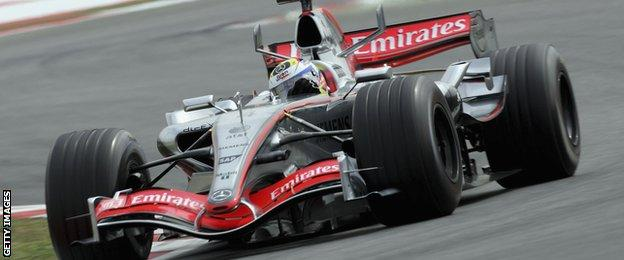 Juan Pablo Montoya in action during qualifying for the 2006 Spanish Grand Prix