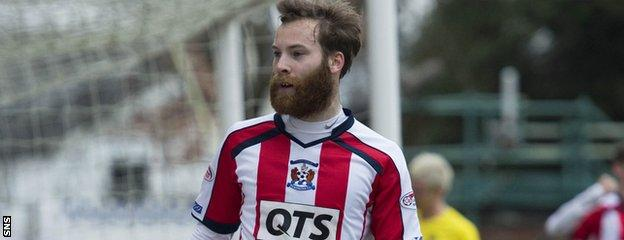 The heavily-bearded James Dayton was at Kilmarnock before going south to Oldham