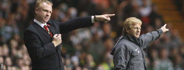 Scotland and Aberdeen team-mates Alex McLeish and Gordon Strachan ended up Old Firm adversaries