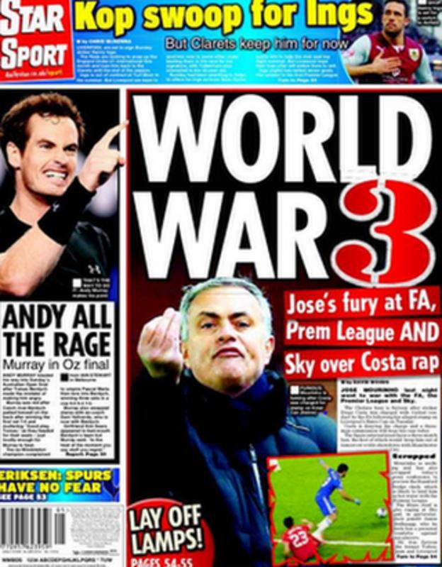 The Daily Star's back page