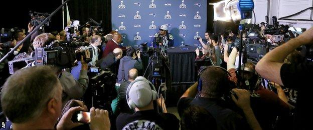 Marshawn Lynch's press conference