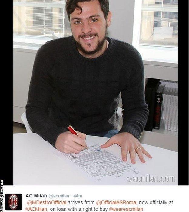 AC Milan sign Mattia Destro