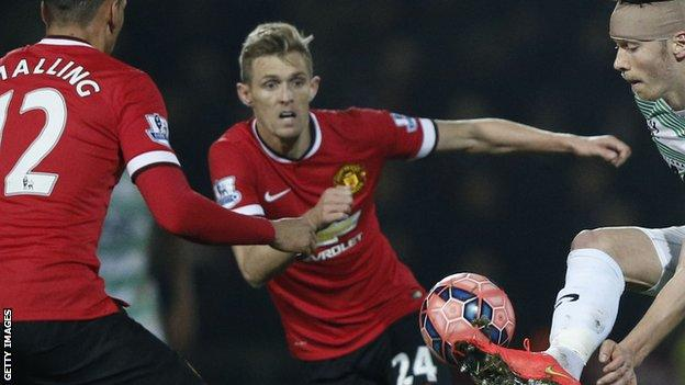 Darren Fletcher in FA Cup action for United against Yeovil