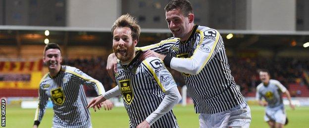 St Mirren kept a clean sheet for the first time in 31 matches