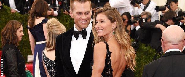 Model Gisele Bundchen and NFL player Tom Brady