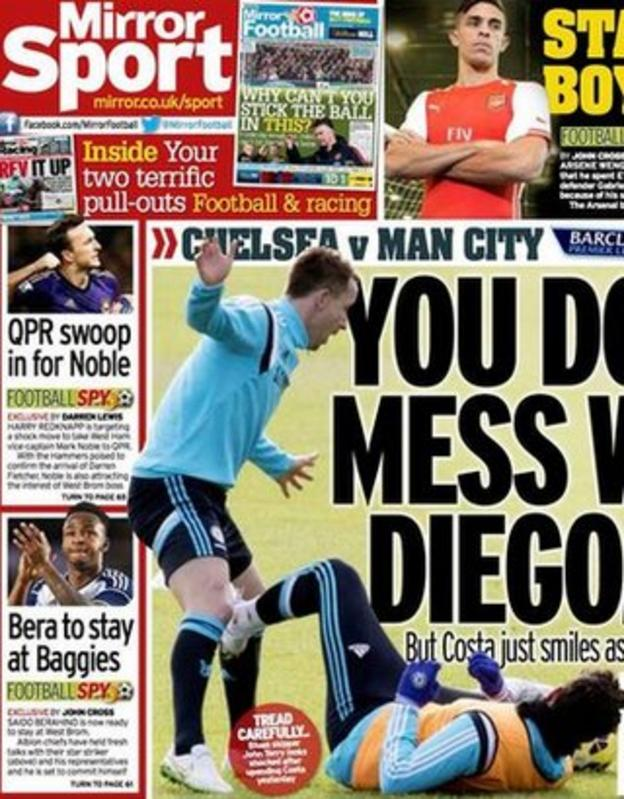 Daily Mirrror back page