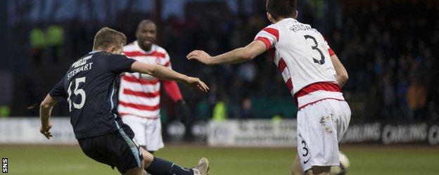Greg Stewart fires Dundee's equaliser