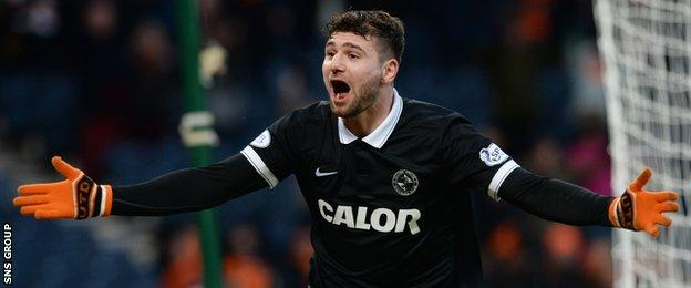 Nadir Ciftci scored the winning goal for Dundee United