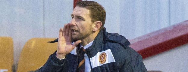 Ian Baraclough has won two, lost five, drawn one since joining Motherwell