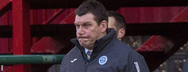 Tommy Wright's St Johnstone have now gone three games without a win
