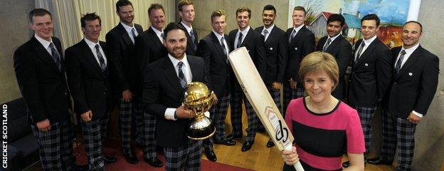 Scotland's First Minister Nicola Sturgeon wishes the national team well ahead of their departure