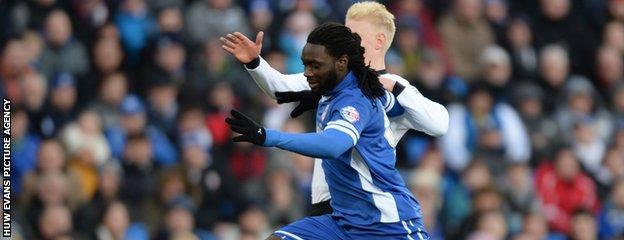 Cardiff City striker Kenwyne Jones has scored 12 goals for the Bluebirds this season