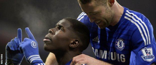 Chelsea defenders Kurt Zouma and Gary Cahill