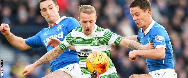 Lee Wallace and Ian Black squeeze out Celtic striker Leigh Griffiths