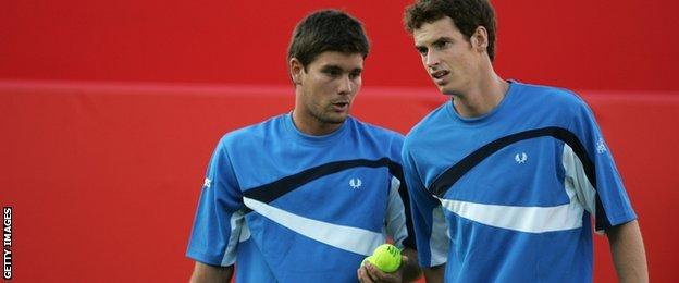 Andy Murray and Daniel Vallverdu