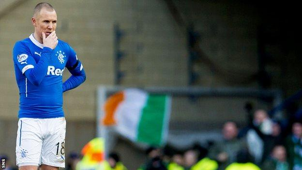Kenny Miller shows his dejection against Celtic