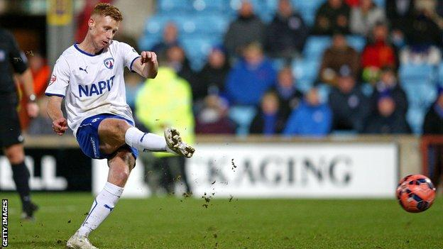 Eoin Doyle in action for Chesterfield