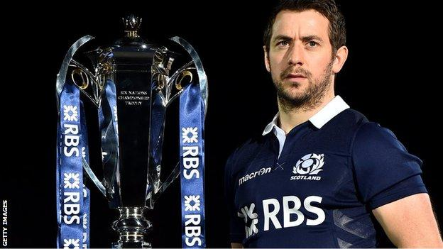 Scotland captain Greig Laidlaw will hope to get his hands on the Six Nations trophy after the final match against Ireland on 21 March