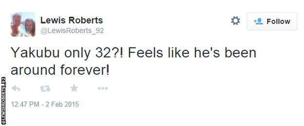 Lewis Roberts tweet