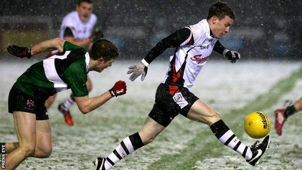 Sligo's Eunan Doherty attempts to burst away from Queen's player Sean Warnock two weeks ago