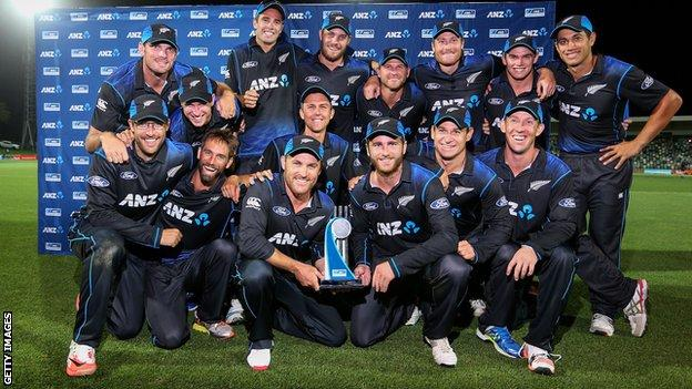 New Zealand celebrate a 2-0 one-day series win over Pakistan