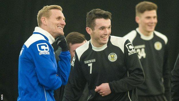 St Mirren manager Gary Teale and midfielder John McGinn