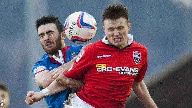 Tony Dingwall in action for Ross County