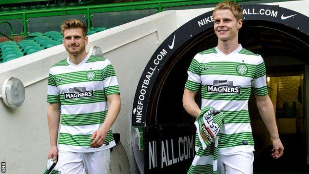 Celtic players Stuart Armstrong and Gary Mackay-Steven