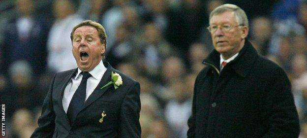 Redknapp often did battle against Sir Alex Ferguson